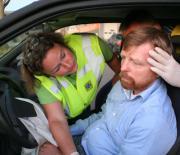 Stabilisatie nek van automobilist